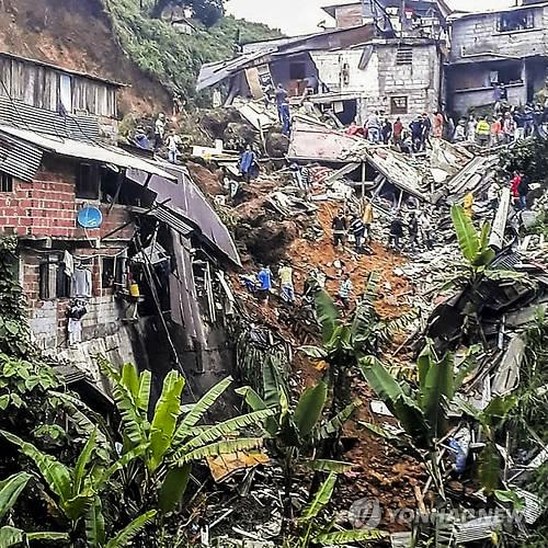 콜롬비아 산사태 구조현장