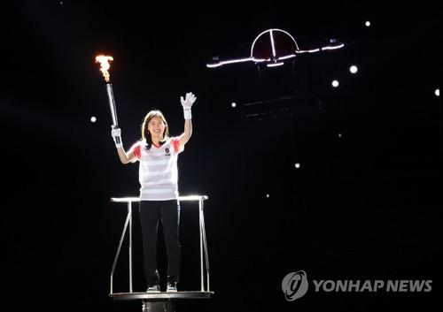 전국체전 김아랑과 드론