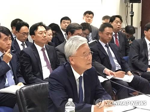 """조윤제 """"南北진전으로 쌓은 대북지렛대가 비핵화·평화의 자산""""(종합)"""