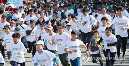 '달렸다, 빈곤국 아동 살렸다' 2018 서울 국제어린이마라톤(종합)