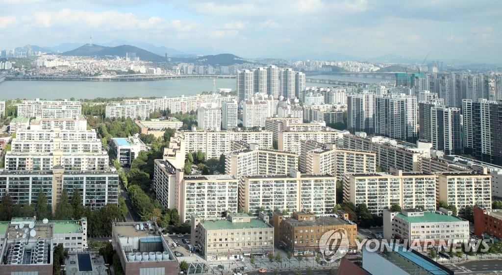 서울의 한 아파트 일대