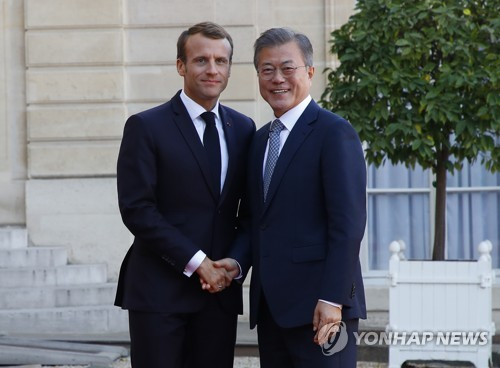 Leaders of S. Korea, France agree to improve ties, denuclearize N. Korea