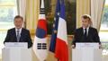 韩法首脑共同会见记者
