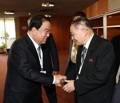 Parliament head with NK official