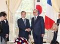Avec le président de l'Assemblée nationale française