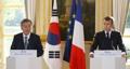 韓仏首脳が共同記者会見
