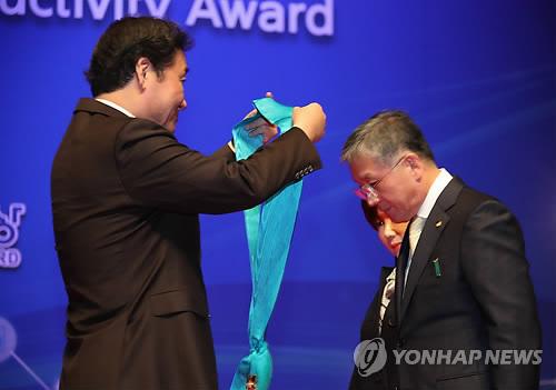 제42회 생산성대회 개최…오뚜기 함영준 회장 금탑훈장