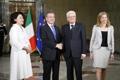 Líderes de Corea del Sur e Italia
