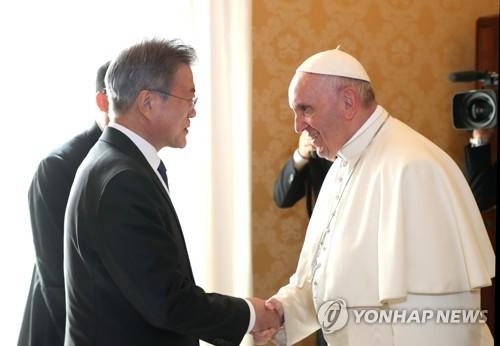"""천주교주교회의 """"평화의 사도 교황께 감사드린다"""""""