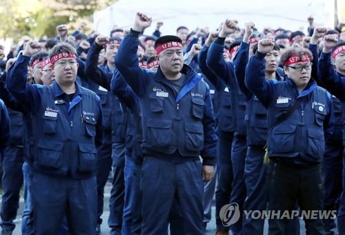한국GM 노조, 쟁의권 확보 불발에 26일 간부 파업(종합)