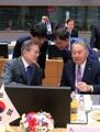 Avec le président kazakh