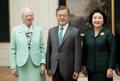 Avec la reine Margrethe II de Danemark