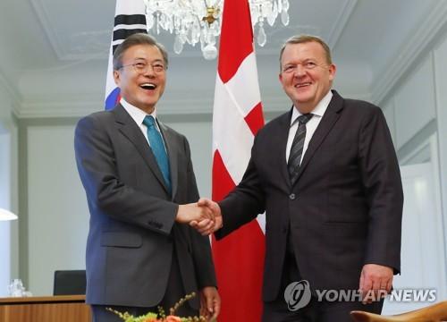 """한·덴마크 정상 """"北 CVID 의견일치""""…공동언론발표문 채택(종합)"""