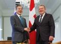 デンマーク首相と首脳会談