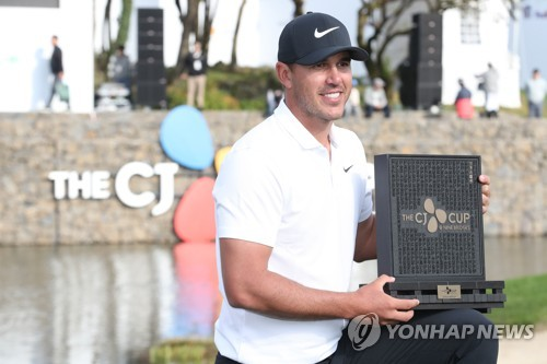 Current, former world No. 1s in men's golf to compete in S. Korea this week