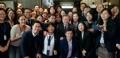 Avec des employés de la mission diplomatique à Bruxelles