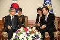 El primer ministro surcoreano y Li Hongzhong