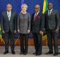 Avec des hauts diplomates de 3 pays des Caraïbes