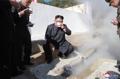 N.K. leader visits hot spring construction site
