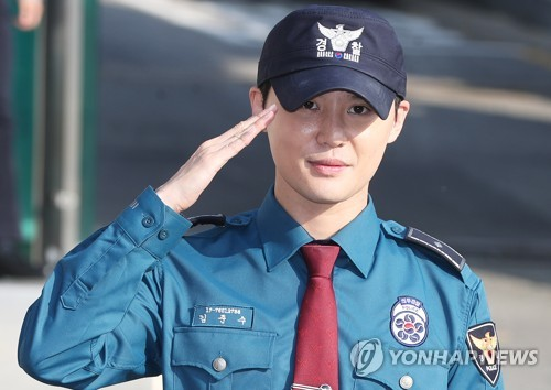 JYJ's Kim Jun-su discharged after military duty