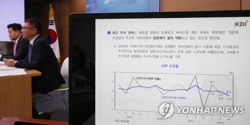 KDIは5日に下半期の経済に関する説明会見を行った=(聯合ニュース)