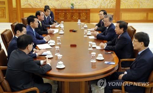 常設協議体の初会合の様子=5日、ソウル(聯合ニュース)