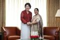 Avec la chef de la diplomatie indienne