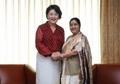 La primera dama y la canciller india