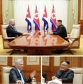 Kim et le président cubain Diaz-Canel