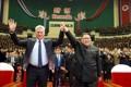 Kim Jong-un y el presidente cubano