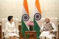 Avec le Premier ministre indien