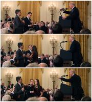 트럼프 대통령과 설전을 벌이는 CNN 기자