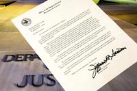 세션스 법무장관이 트럼프 대통령에게 제출한 '사임 서한'