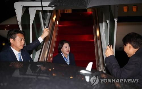 韩第一夫人结束访印回国