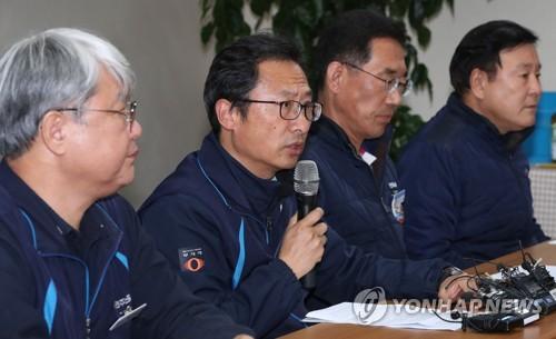 발언하는 김명환 민주노총 위원장