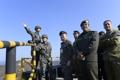 Los agregados militares extranjeros visitan una isla fronteriza