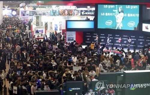 국제게임전시회 지스타 흥행 열기…첫날 4만1천명 관람