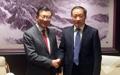 锦湖会长与中国文化旅游部高官会面
