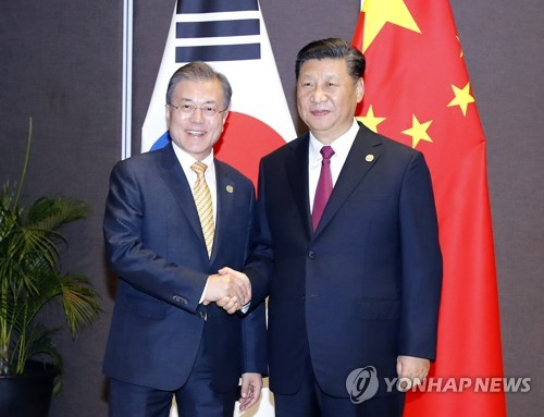 (6th LD) Moon, Xi agree to closely cooperate for successful 2nd U.S.-N.K. summit