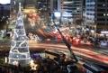 Sapin de Noël dans le centre de Séoul