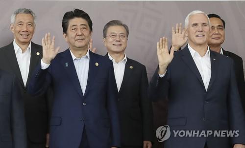 日아베, APEC 정상회의서 '보호무역주의 확산' 우려 표명(종합)