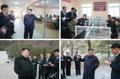 N.K. leader visits glass factory