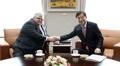 El gobernador del BOK con el director general del BPI