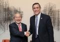 U.S. congressman visits biz body