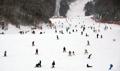 Estación de esquí abarrotada de visitantes