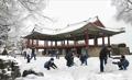 Première neige à Pyongyang