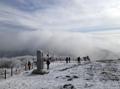 雪化粧の太白山
