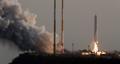 Prueba exitosa de un motor de cohete espacial