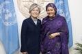 Avec la vice-secrétaire générale de l'ONU
