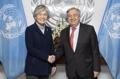Avec le chef de l'ONU